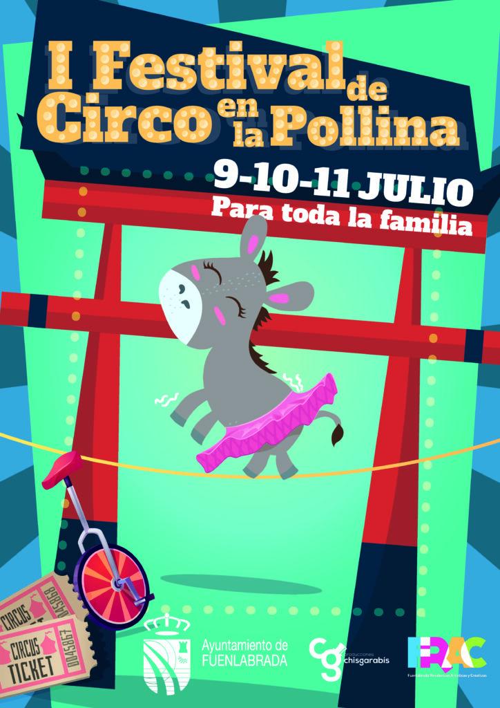 Cartel del I Festival de Circo en la Pollina, Fuenlabrada